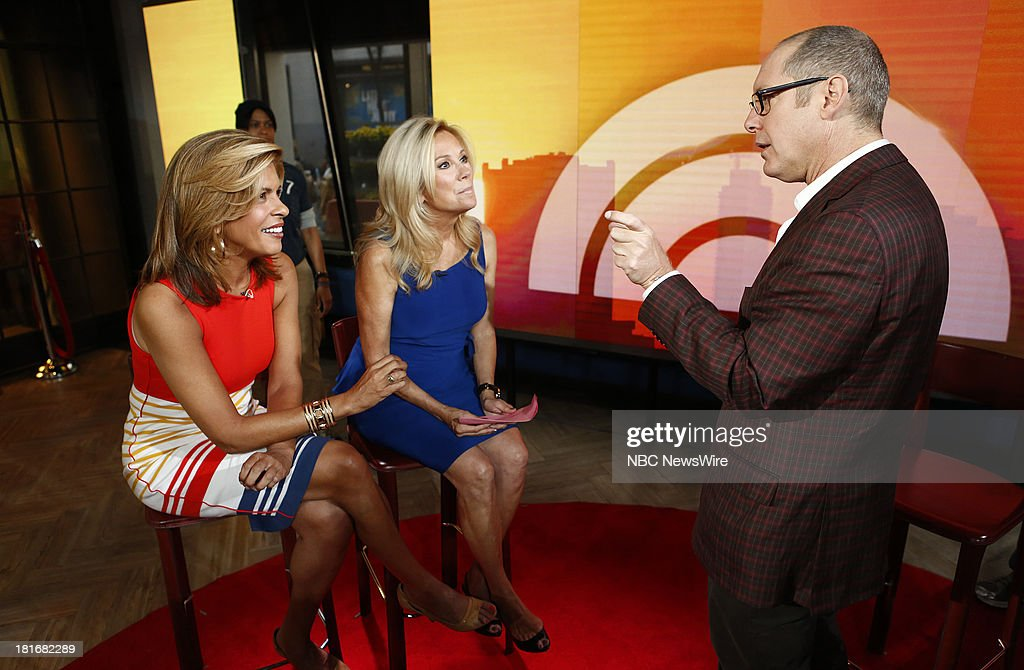 Hoda Kotb, Kathie Lee Gifford and James Spader appear on NBC News' 'Today' show --