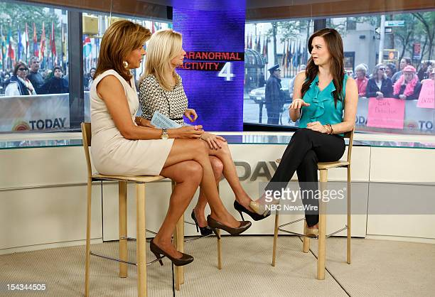 Hoda Kotb Kathie Lee Gifford and Katie Featherston appear on NBC News' 'Today' show
