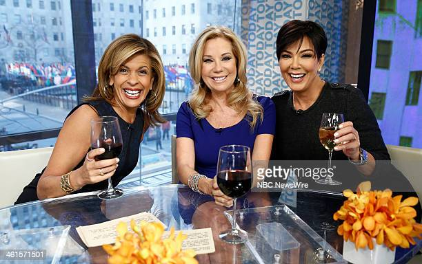 Hoda Kotb Kathie Lee Gifford and Kris Jenner appear on NBC News' 'Today' show