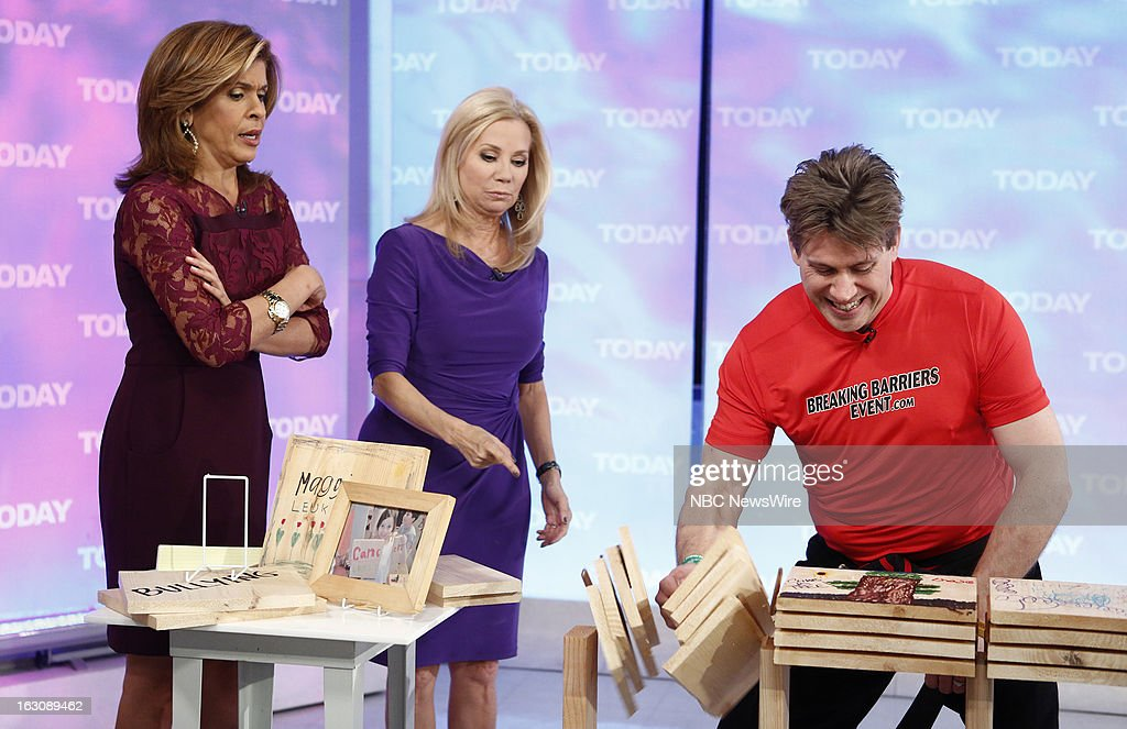 Hoda Kotb, Kathie Lee Gifford and Leif Becker appear on NBC News' 'Today' show --