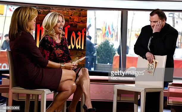 Hoda Kotb Kathie Lee Gifford and Meat Loaf appear on NBC News' 'Today' show