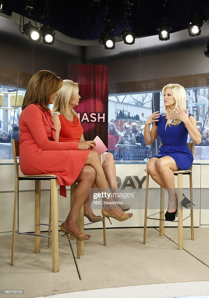 Hoda Kotb, Kathie Lee Gifford and Megan Hilty appear on NBC News' 'Today' show --