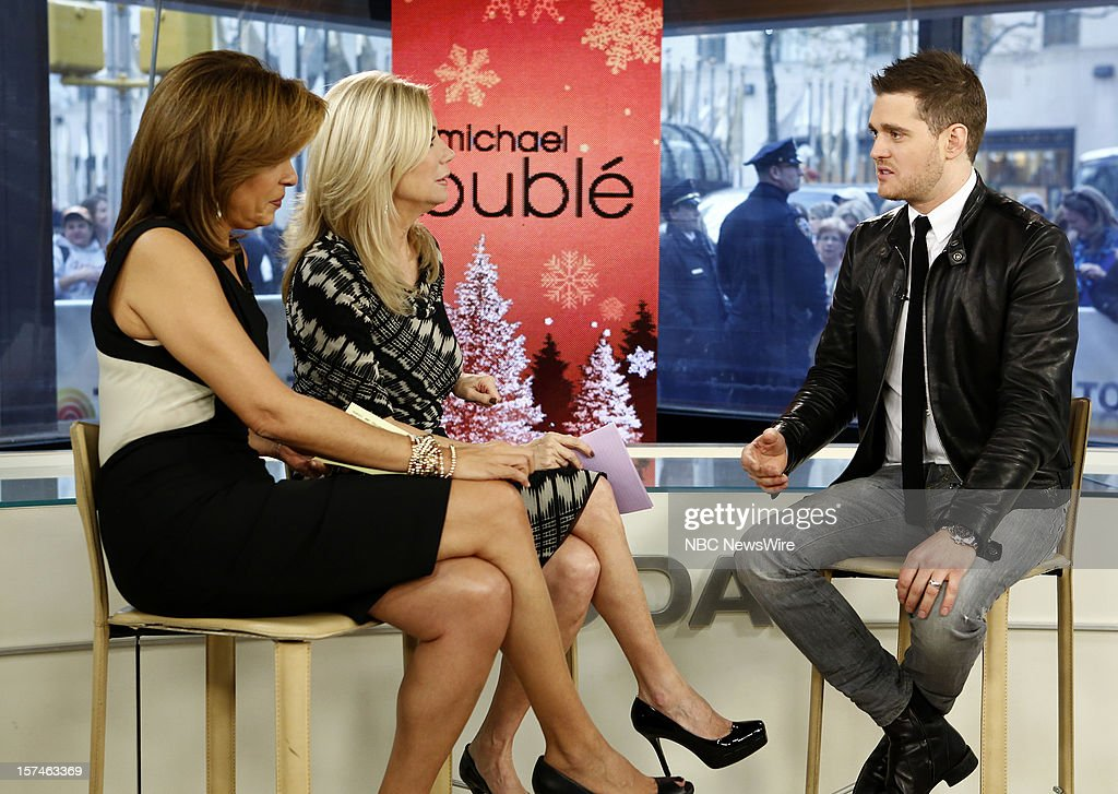 Hoda Kotb, Kathie Lee Gifford and Michael Buble appear on NBC News' 'Today' show --
