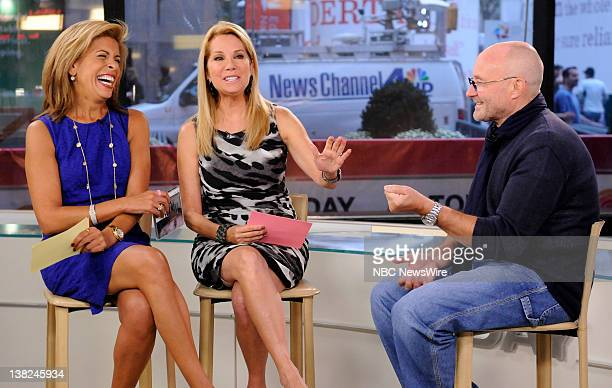 Hoda Kotb Kathie Lee Gifford and Phil Collins appear on NBC News' 'Today' show