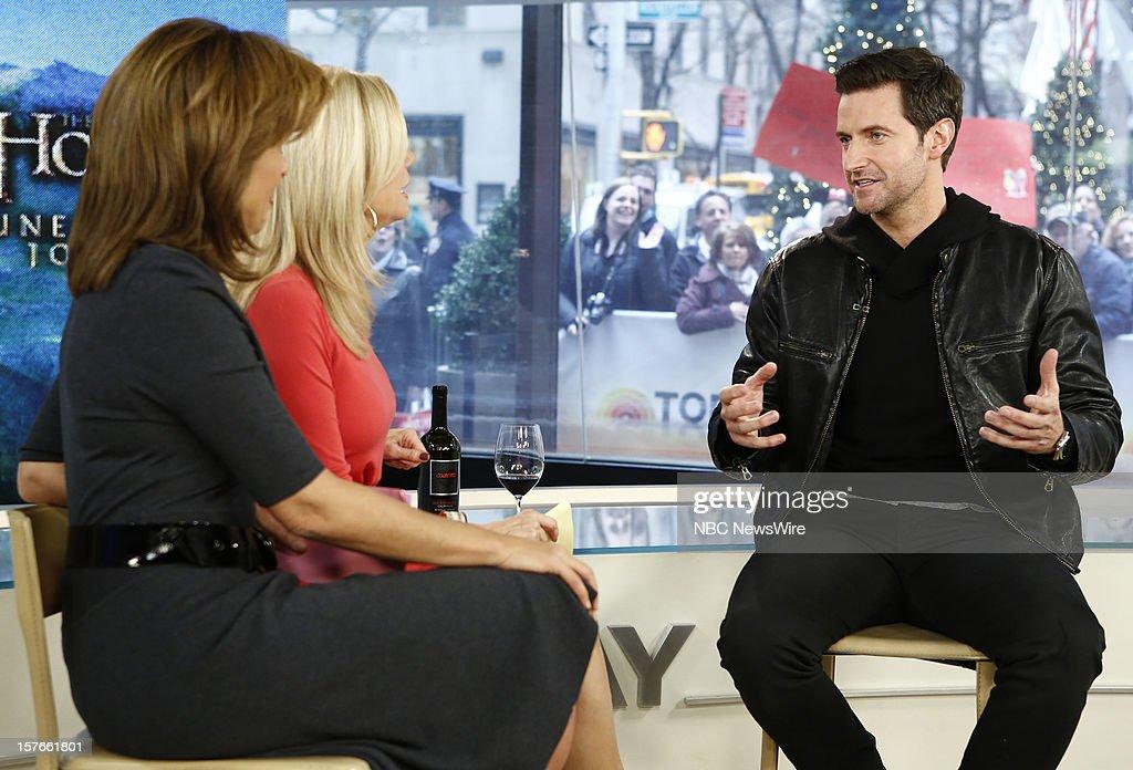 Hoda Kotb, Kathie Lee Gifford and Richard Armitage appear on NBC News' 'Today' show --