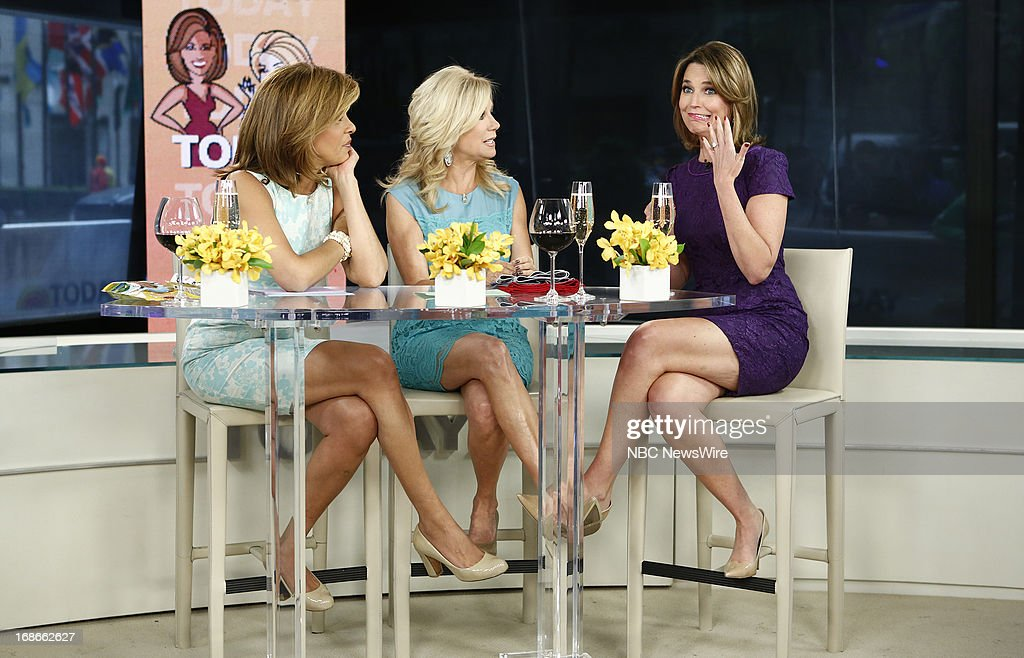 Hoda Kotb, Kathie Lee Gifford and Savannah Guthrie appear on NBC News' 'Today' show --