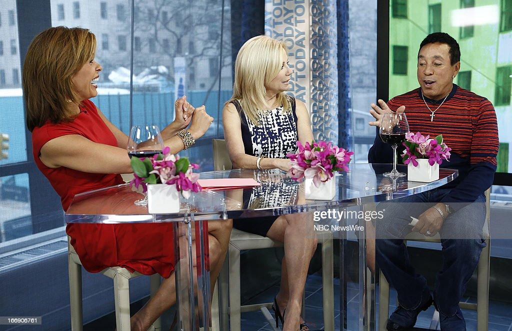Hoda Kotb, Kathie Lee Gifford and Smokey Robinson appear on NBC News' 'Today' show --