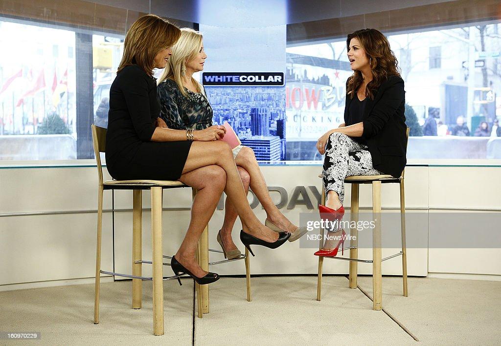 Hoda Kotb, Kathie Lee Gifford and Tiffani Thiessen appear on NBC News' 'Today' show --