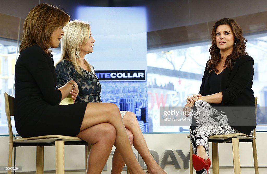 Hoda Kotb, Kathie Lee Gifford and Tiffani Thiessen appear on NBC News' 'Today' show --