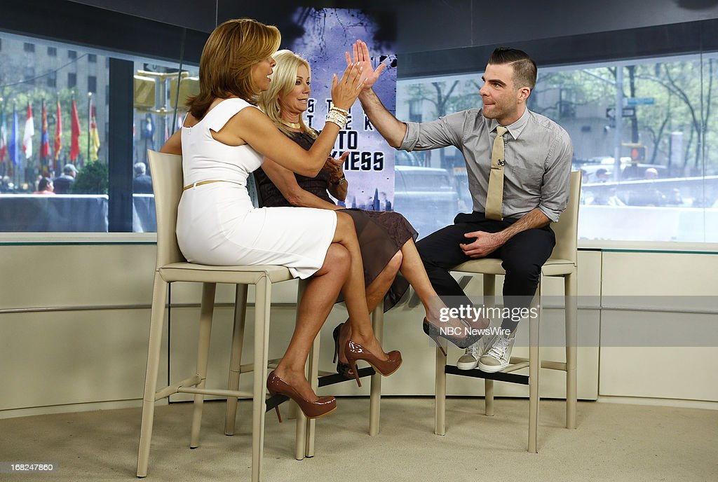 Hoda Kotb, Kathie Lee Gifford and Zachary Quinto appear on NBC News' 'Today' show --