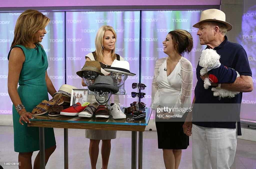 Hoda Kotb, Kathie Lee Gifford, Bobbie Thomas and Frank Gifford appear on NBC News' 'Today' show --