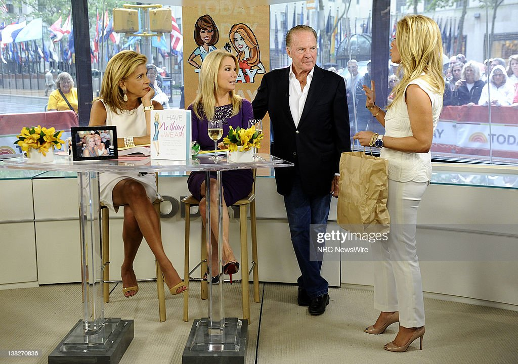 Hoda Kotb, Kathie Lee Gifford, Frank Gifford and Jill Martin appear on NBC News' 'Today' show