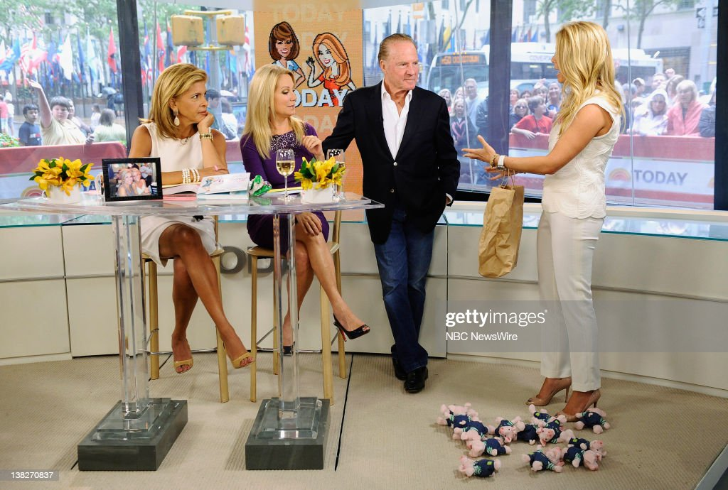Hoda Kotb, Kathie Lee Gifford, Frank Gifford and Jill Martin appear on NBC News' 'Today' show