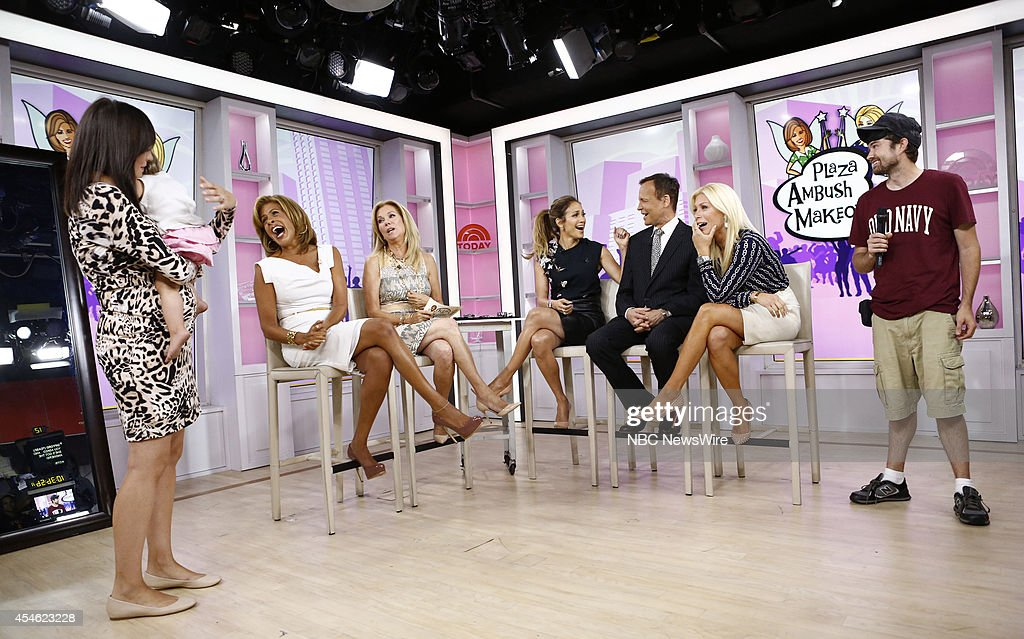 Hoda Kotb Kathie Lee Gifford Jennifer Lopez Louis Licari and Jill Martin appear on NBC News' 'Today' show