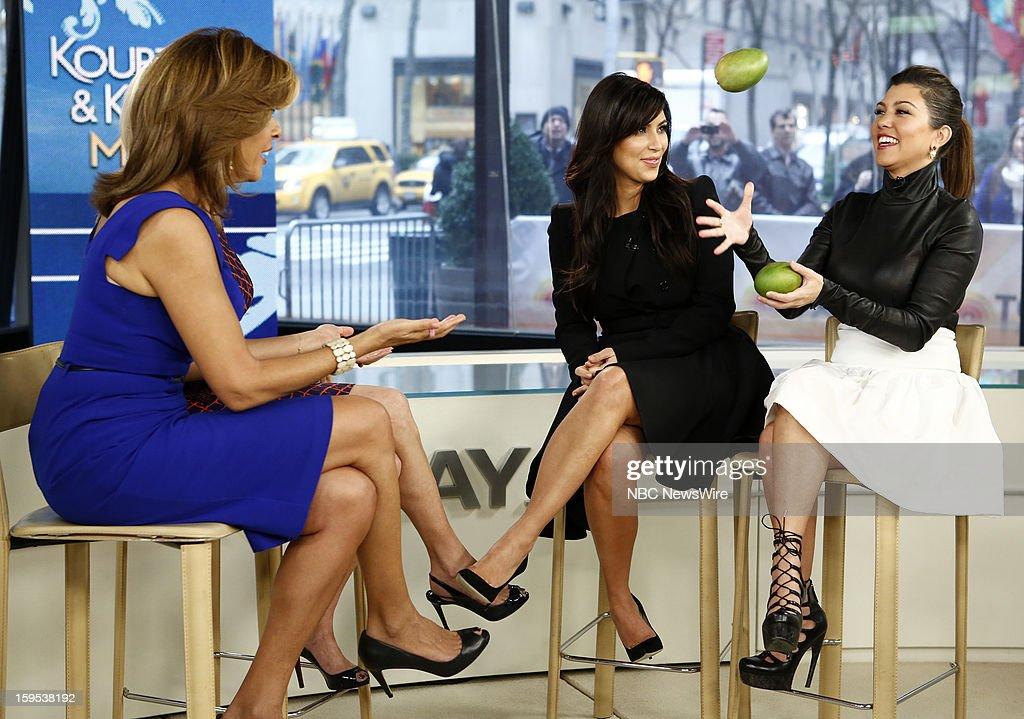 Hoda Kotb, Kathie Lee Gifford, Kim Kardashian and Kourtney Kardashian appear on NBC News' 'Today' show --