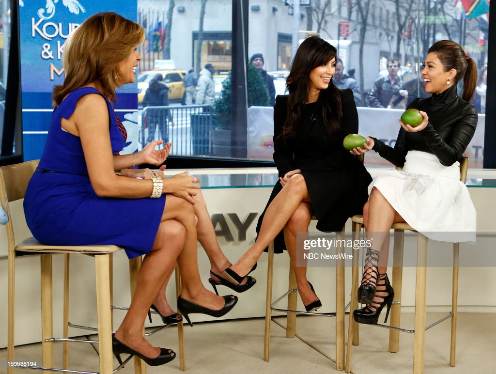 Hoda Kotb, Kathie Lee Gifford, Kim Kardashian and Kourtney Kardashian appear on NBC News' 'Today' show --
