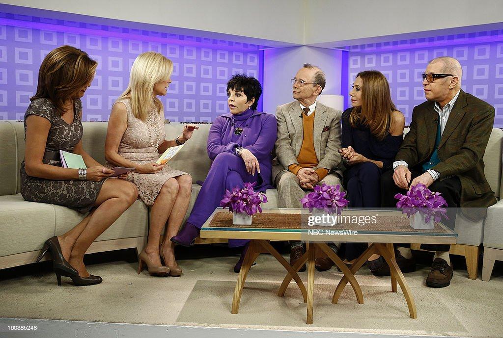 Hoda Kotb, Kathie Lee Gifford, Liza Minnelli, Joel Grey, Marisa Berenson and Michael York appear on NBC News' 'Today' show --