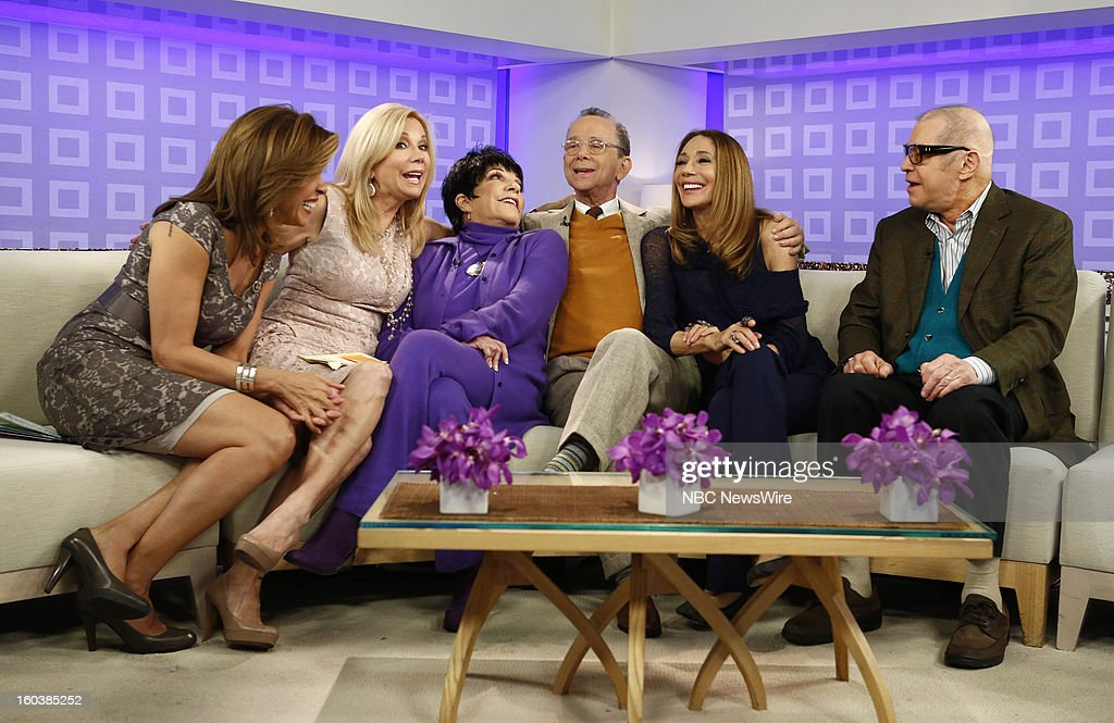 Hoda Kotb, Kathie Lee Gifford, Liza Minnelli, Joel Grey, Marisa Berenson and Michael York appear on NBC News' 'Today' show --