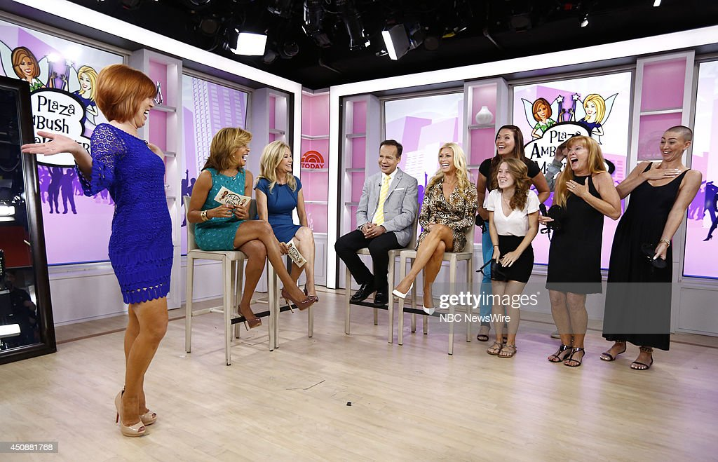 Hoda Kotb Kathie Lee Gifford Louis Licari and Jill Martin appear on NBC News' 'Today' show
