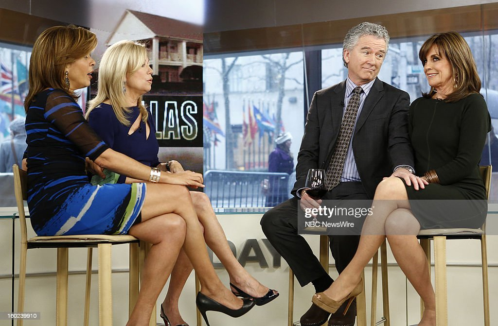 Hoda Kotb, Kathie Lee Gifford, Patrick Duffy and Linda Gray appear on NBC News' 'Today' show --