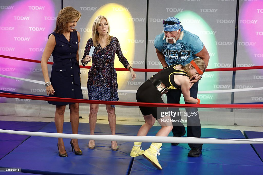 <a gi-track='captionPersonalityLinkClicked' href=/galleries/search?phrase=Hoda+Kotb&family=editorial&specificpeople=2338013 ng-click='$event.stopPropagation()'>Hoda Kotb</a>, <a gi-track='captionPersonalityLinkClicked' href=/galleries/search?phrase=Kathie+Lee+Gifford&family=editorial&specificpeople=203269 ng-click='$event.stopPropagation()'>Kathie Lee Gifford</a>, Sara Haines and <a gi-track='captionPersonalityLinkClicked' href=/galleries/search?phrase=Hulk+Hogan&family=editorial&specificpeople=209432 ng-click='$event.stopPropagation()'>Hulk Hogan</a> appear on NBC News' 'Today' show --