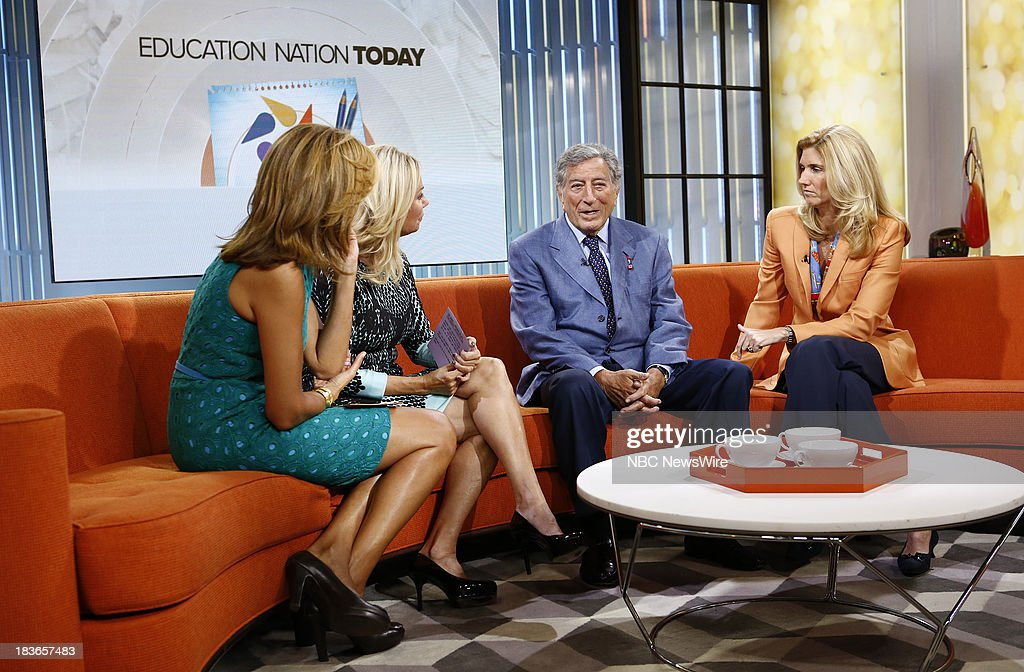 <a gi-track='captionPersonalityLinkClicked' href=/galleries/search?phrase=Hoda+Kotb&family=editorial&specificpeople=2338013 ng-click='$event.stopPropagation()'>Hoda Kotb</a>, <a gi-track='captionPersonalityLinkClicked' href=/galleries/search?phrase=Kathie+Lee+Gifford&family=editorial&specificpeople=203269 ng-click='$event.stopPropagation()'>Kathie Lee Gifford</a>, <a gi-track='captionPersonalityLinkClicked' href=/galleries/search?phrase=Tony+Bennett+-+Singer&family=editorial&specificpeople=160951 ng-click='$event.stopPropagation()'>Tony Bennett</a> and Susan Benedetto appear on NBC News' 'Today' show --
