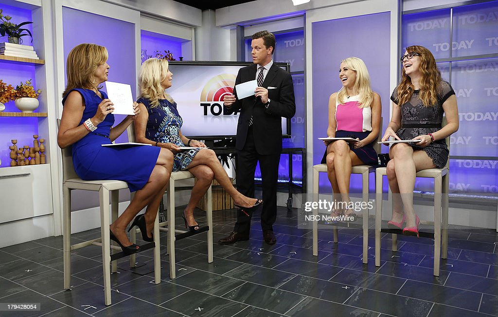 <a gi-track='captionPersonalityLinkClicked' href=/galleries/search?phrase=Hoda+Kotb&family=editorial&specificpeople=2338013 ng-click='$event.stopPropagation()'>Hoda Kotb</a>, <a gi-track='captionPersonalityLinkClicked' href=/galleries/search?phrase=Kathie+Lee+Gifford&family=editorial&specificpeople=203269 ng-click='$event.stopPropagation()'>Kathie Lee Gifford</a>, Willie Geist, Nikki Glaser and <a gi-track='captionPersonalityLinkClicked' href=/galleries/search?phrase=Sara+Schaefer&family=editorial&specificpeople=7320919 ng-click='$event.stopPropagation()'>Sara Schaefer</a> appear on NBC News' 'Today' show --