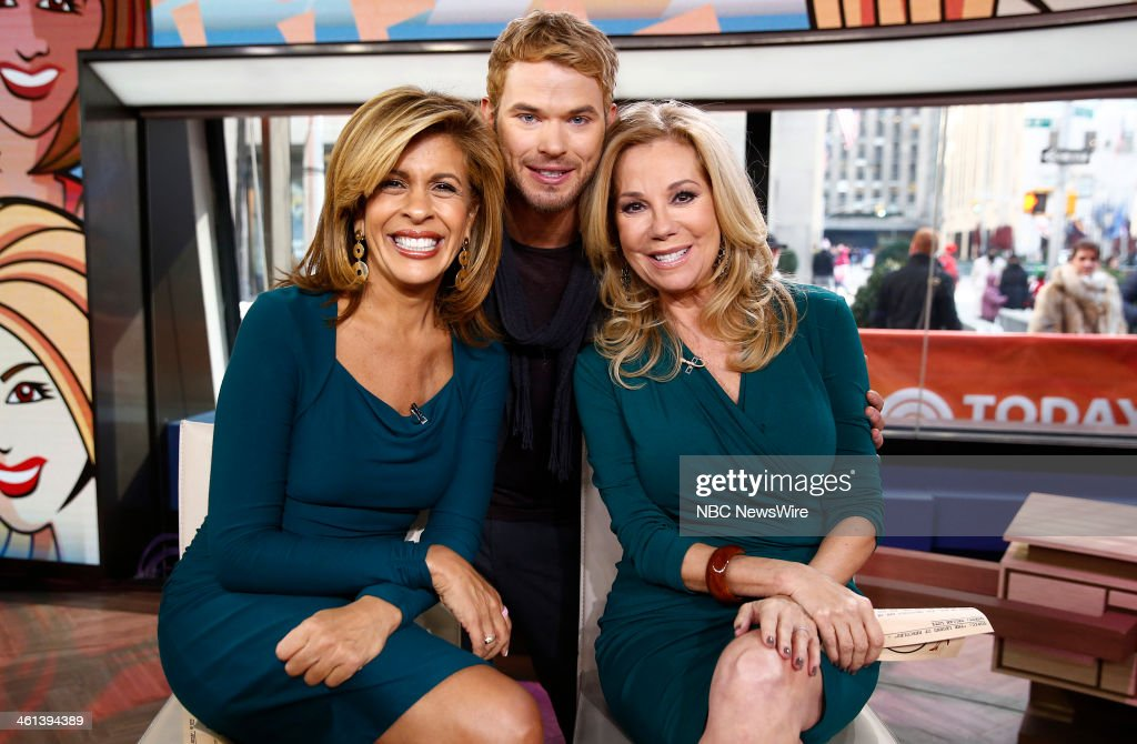 Hoda Kotb, Kellan Lutz and Kathie Lee Gifford appear on NBC News' 'Today' show --