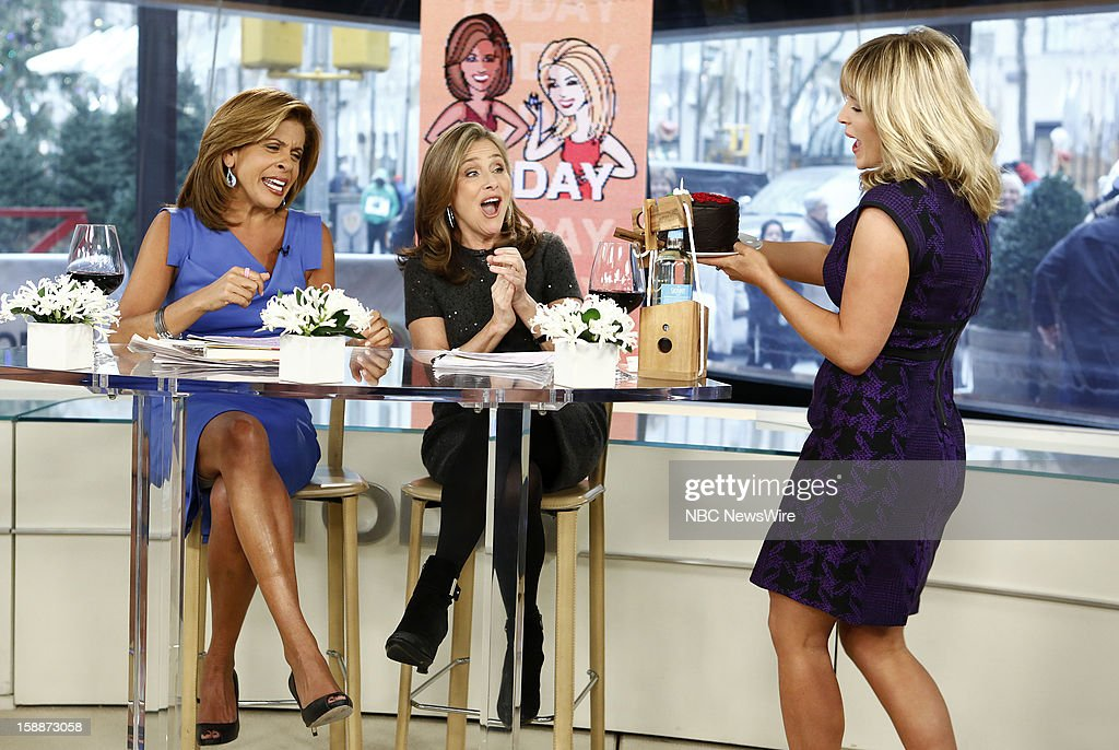 Hoda Kotb, Meredith Vieira and Sara Haines appear on NBC News' 'Today' show --