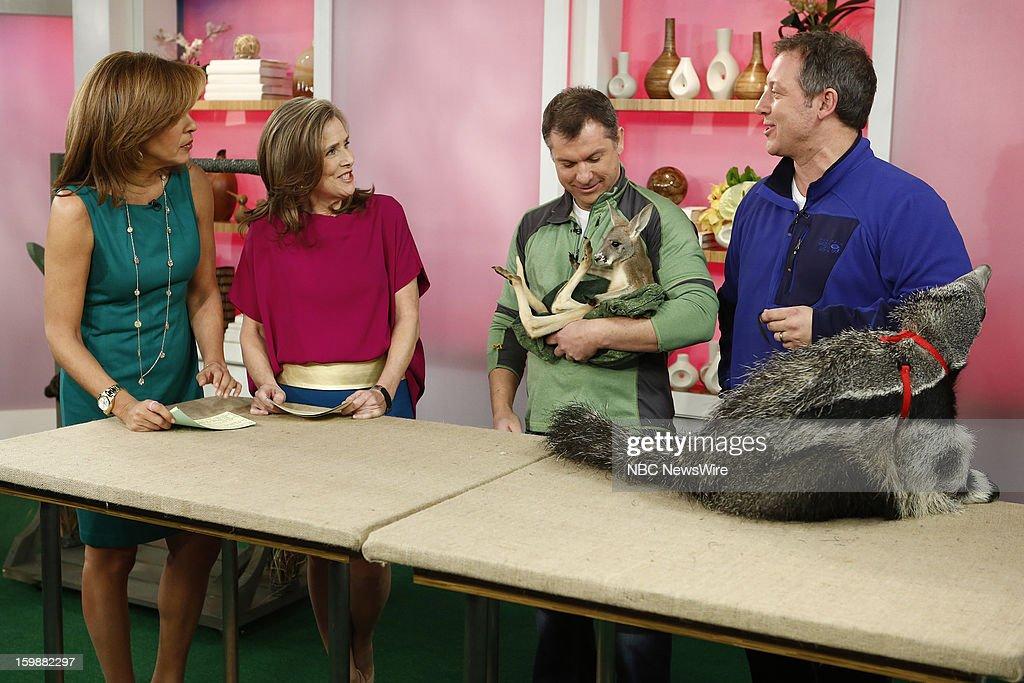 Hoda Kotb, Meredith Vieira, Martin Kratt and Chris Kratt appear on NBC News' 'Today' show --