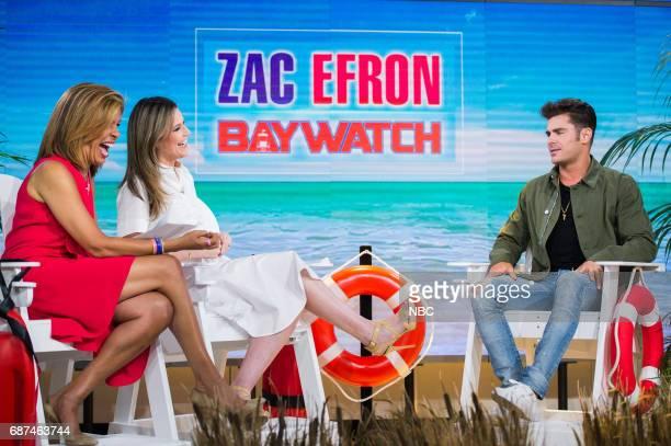 Hoda Kotb Savannah Guthrie and Zac Efron on Monday May 22 2017