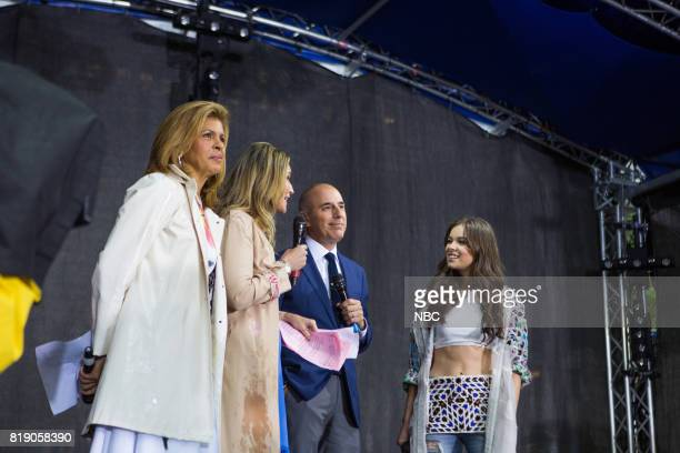 Hoda Kotb Savannah Guthrie Matt Lauer and Hailee Steinfeld on Friday July 14 2017