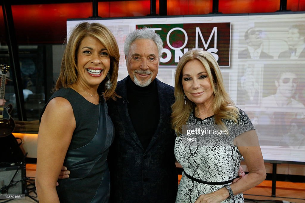 Hoda Kotb, Tom Jones, and Kathie Lee Gifford appear on the 'Today' show on Wednesday, November 25, 2015 --