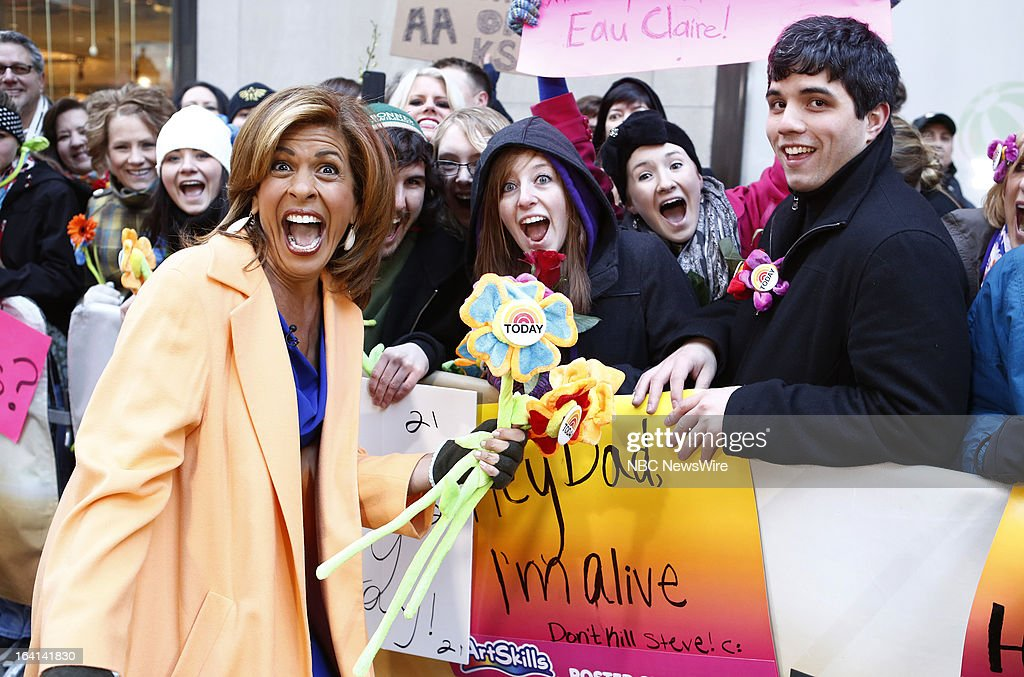 Hoda Kotb with fans during NBC News' 'Today' show on March 20, 2013--