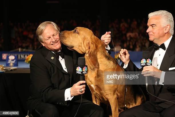 Host David Frei 2014 winner Nathan the bloodhound host John O'Hurley