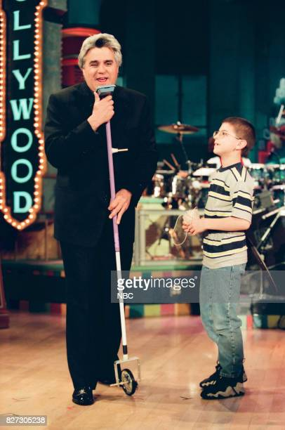 Host Jay Leno during the segment 'Kid Inventors' on March 31 1999