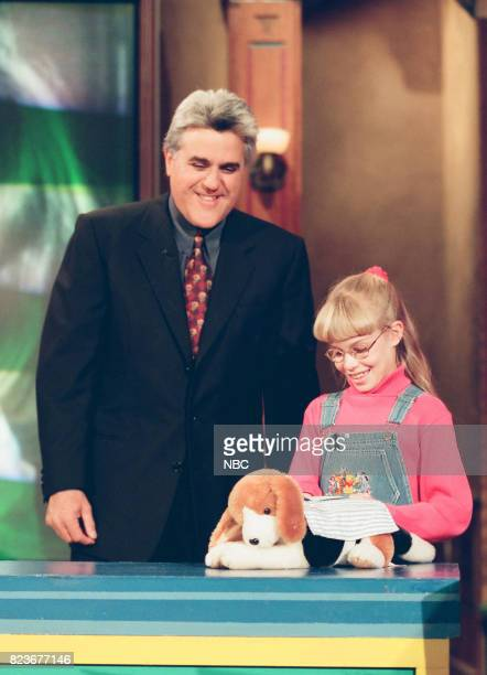 Host Jay Leno during the segment 'Kids Pet Inventions' on March 3 1999