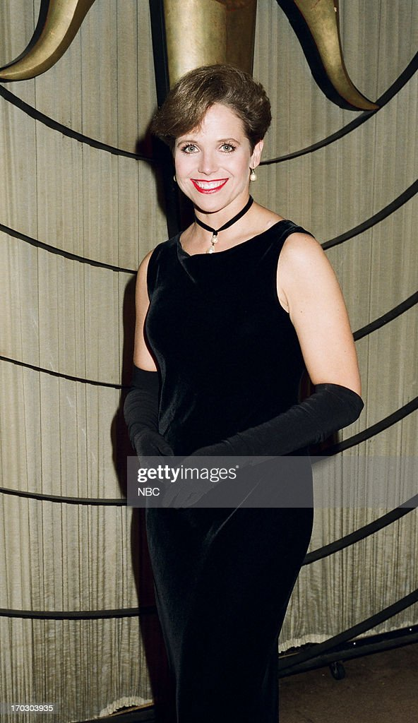 Host Katie Couric backstage during the 'Legend to Legend Night' held on October 26 1993 at the Wiltern Theatre in Los Angeles CA