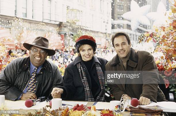 Hosts Al Roker Katie Couric and Matt Lauer during the 1997 Macy's Thanksgiving Day Parade Photo by NBCU Photo Bank