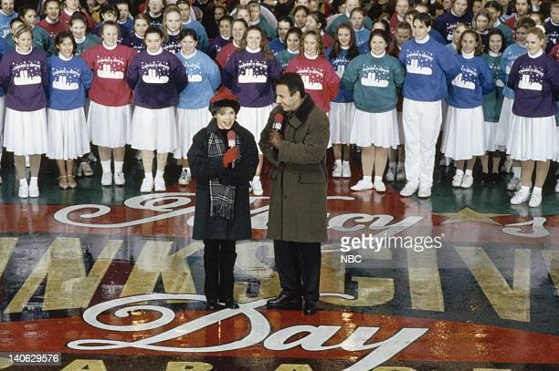 Hosts Katie Couric Matt Lauer during the 1998 Macy's Thanksgiving Day Parade Photo by NBCU Photo Bank
