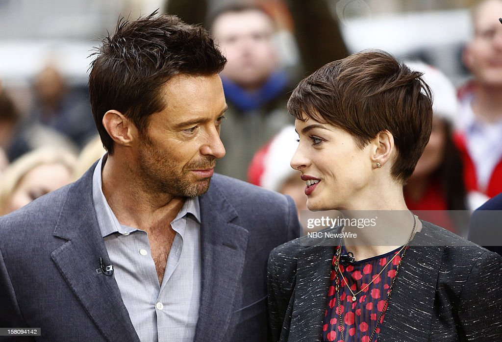 <a gi-track='captionPersonalityLinkClicked' href=/galleries/search?phrase=Hugh+Jackman&family=editorial&specificpeople=202499 ng-click='$event.stopPropagation()'>Hugh Jackman</a> and <a gi-track='captionPersonalityLinkClicked' href=/galleries/search?phrase=Anne+Hathaway+-+Actress&family=editorial&specificpeople=11647173 ng-click='$event.stopPropagation()'>Anne Hathaway</a> appear on NBC News' 'Today' show --