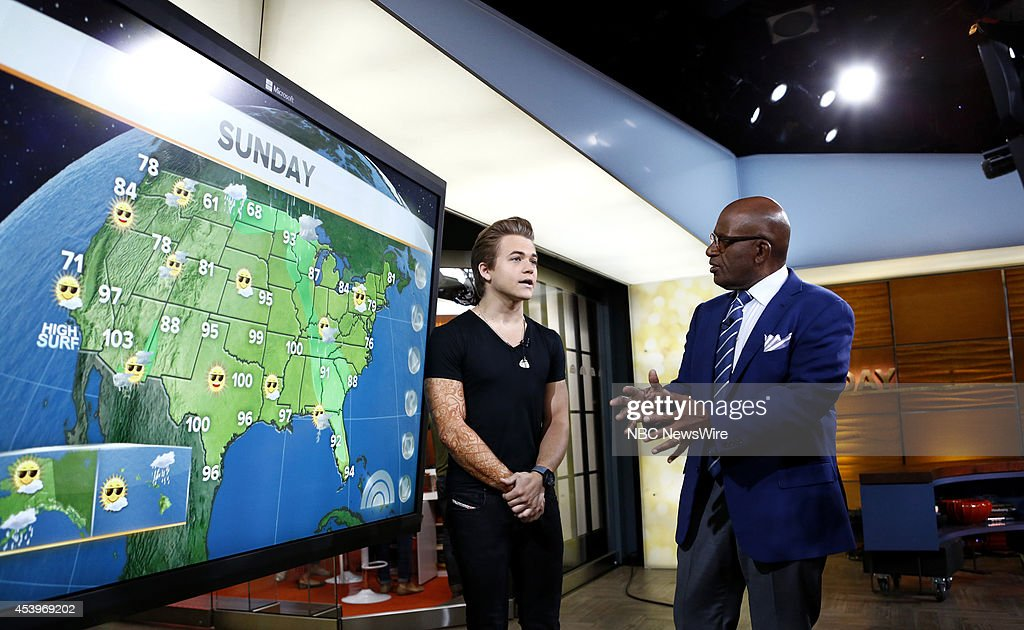Hunter Hayes and Al Roker appear on NBC News' 'Today' show --