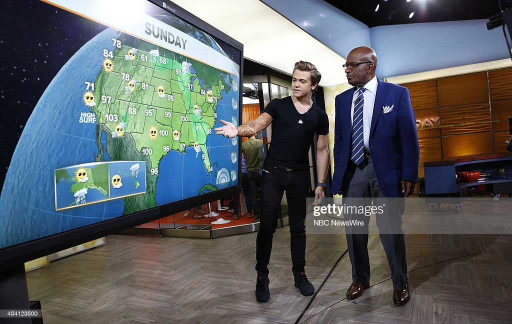 <a gi-track='captionPersonalityLinkClicked' href=/galleries/search?phrase=Hunter+Hayes&family=editorial&specificpeople=3290701 ng-click='$event.stopPropagation()'>Hunter Hayes</a> and <a gi-track='captionPersonalityLinkClicked' href=/galleries/search?phrase=Al+Roker&family=editorial&specificpeople=206153 ng-click='$event.stopPropagation()'>Al Roker</a> appear on NBC News' 'Today' show --