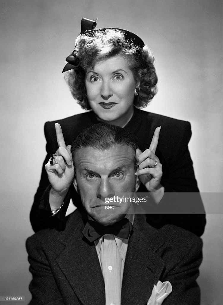 Husband and wife comedy duo George Burns and Gracie Allen