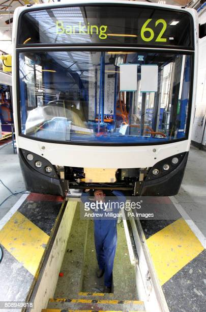Pictured is the factory floor of Alexander Dennis bus builders in Falkirk
