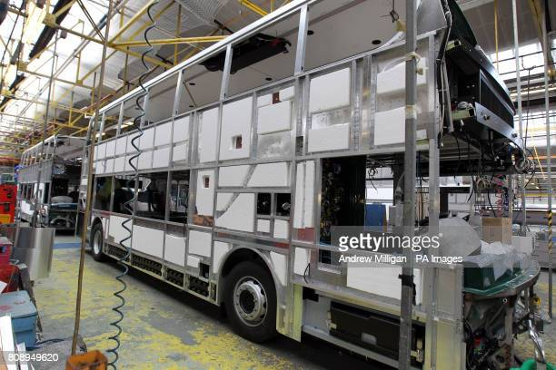 Pictured is the factory floor of Alexander Dennis bus builders in Falkirk PRESS ASSOCIATION Photo Picture date Thursday 7th April 2011