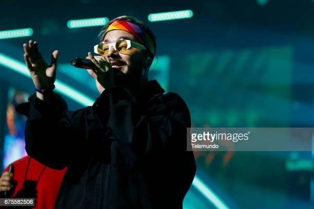J Balvin performs during rehearsals at the Watsco Center in the University of Miami Coral Gables Florida on April 26 2017