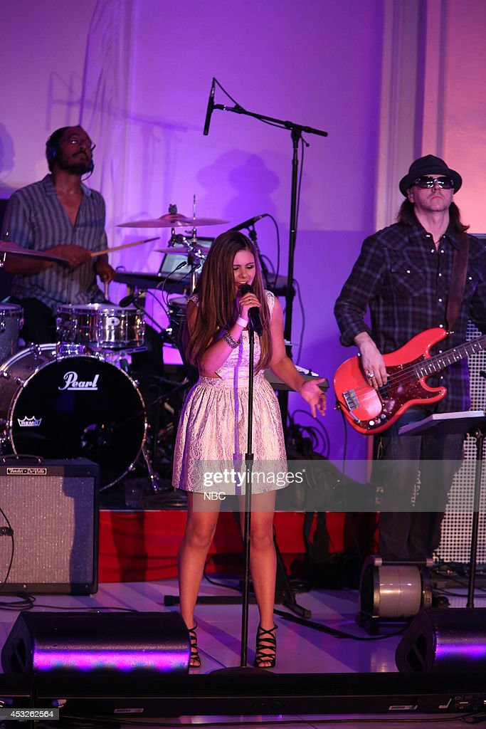 Jacquie Lee performs at a special live performance event celebrating the top 12 artists of NBC's Emmy award winning hit 'The Voice' at Boulevard 3 in Hollywood, CA. 'The Voice' live shows continue on Monday, November 11th at 8 p.m. ET --