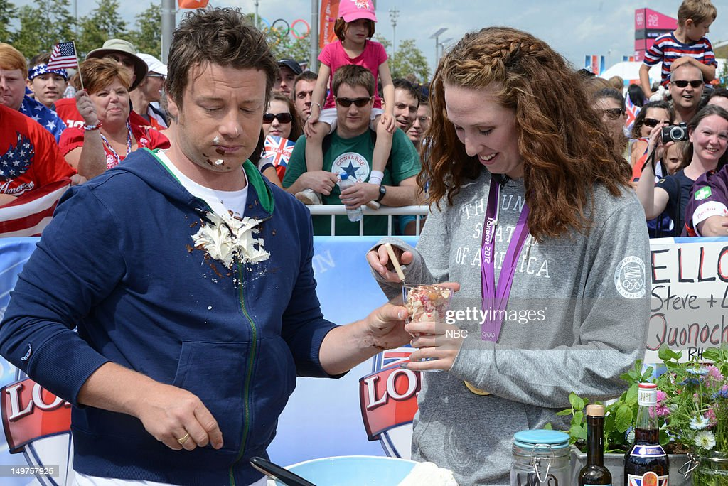 <a gi-track='captionPersonalityLinkClicked' href=/galleries/search?phrase=Jamie+Oliver&family=editorial&specificpeople=159384 ng-click='$event.stopPropagation()'>Jamie Oliver</a>, <a gi-track='captionPersonalityLinkClicked' href=/galleries/search?phrase=Shannon+Vreeland&family=editorial&specificpeople=6738252 ng-click='$event.stopPropagation()'>Shannon Vreeland</a> on August 2, 2012 -- Photo by: