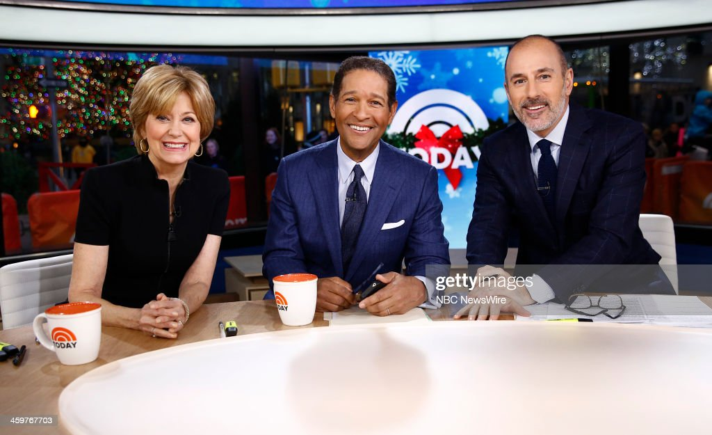 Jane Pauley, Bryant Gumbel and Matt Lauer appear on NBC News' 'Today' show --
